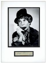 Harpo Marx Autograph Signed Display